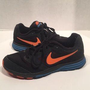 Nike Women's Running Black, Orange, Blue Sneaker
